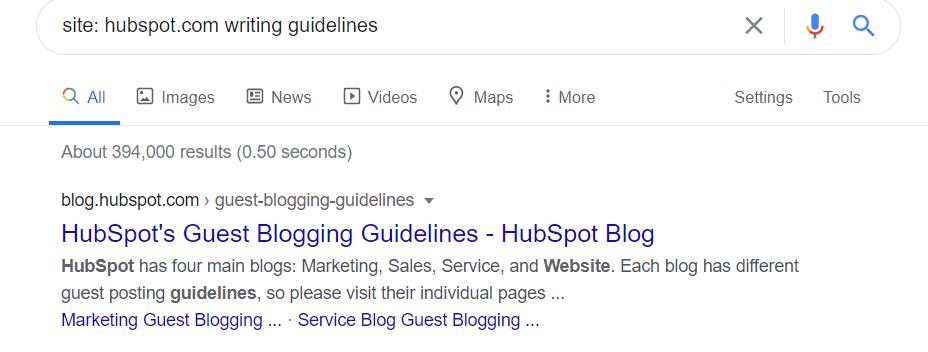 link prospecting for guest blogging